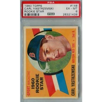 1960 Topps Baseball #148 Carl Yastrzemski RC PSA 6 (EX-MT) *1439 (Reed Buy)