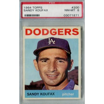 1964 Topps Baseball #200 Sandy Koufax PSA 8 (NM-MT) *1871 (Reed Buy)