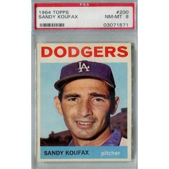 1964 Topps Baseball #200 Sandy Koufax PSA 8 (NM-MT) *1871 (Reed Buy)