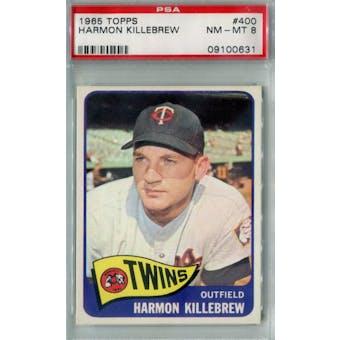 1965 Topps Baseball #400 Harmon Killebrew PSA 8 (NM-MT) *0631 (Reed Buy)