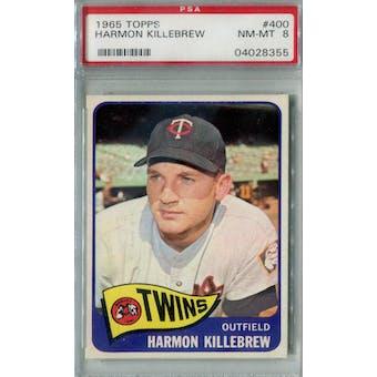 1965 Topps Baseball #400 Harmon Killebrew PSA 8 (NM-MT) *8355 (Reed Buy)