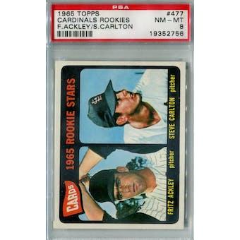 1965 Topps Baseball #477 Steve Carlton RC PSA 8 (NM-MT) *2756 (Reed Buy)