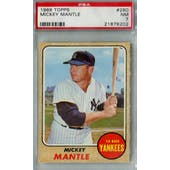 1968 Topps Baseball #280 Mickey Mantle PSA 7 (NM) *8202 (Reed Buy)