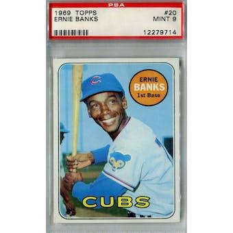 1969 Topps Baseball #20 Ernie Banks PSA 9 (Mint) *9714 (Reed Buy)