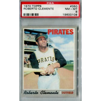 1970 Topps Baseball #350 Roberto Clemente PSA 8 (NM-MT) *0108 (Reed Buy)