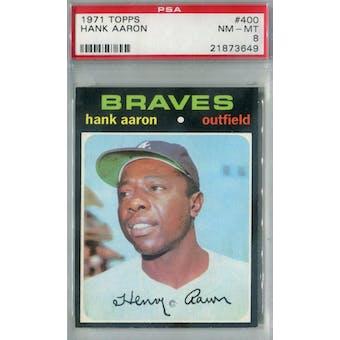 1971 Topps Baseball #400 Hank Aaron PSA 8 (NM-MT) *3649 (Reed Buy)