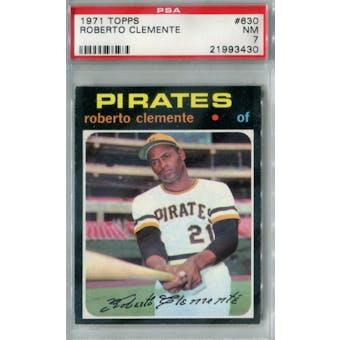 1971 Topps Baseball #630 Roberto Clemente PSA 7 (NM) *3430 (Reed Buy)