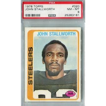 1978 Topps Football #320 John Stallworth PSA 8 (NM-MT) *3181 (Reed Buy)