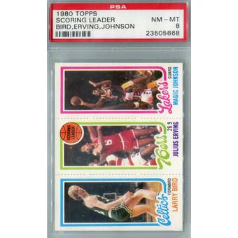 1980/81 Topps Basketball Bird/Erving/Magic RC PSA 8 (NM-MT) *5668 (Reed Buy)
