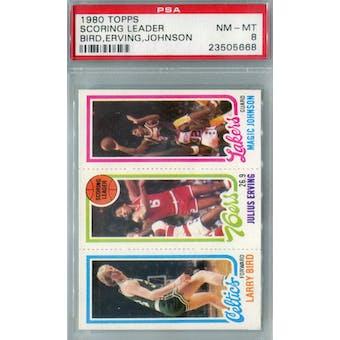 1980/81 Topps Basketball Bird/Erving/Magic RC PSA 8 (NM-MT) *5668 (Reed Buy)