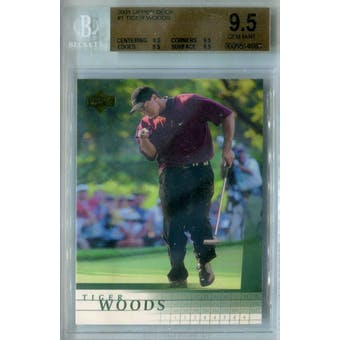 2001 Upper Deck Golf #1 Tiger Woods BGS 9.5 (GM-MT) *4663 (Reed Buy)