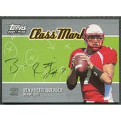 2004 Topps Draft Picks and Prospects #CMBR Ben Roethlisberger Class Marks Rookie Auto