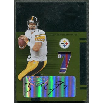 2005 Leaf Limited #LT5 Ben Roethlisberger Threads Patch Auto #5/7