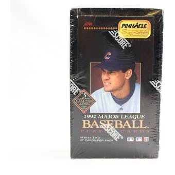 1992 Pinnacle Series 2 Baseball Jumbo Box (Reed Buy)