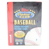 1993 Topps Stadium Club Series 1 Baseball Hobby Box (Reed Buy)