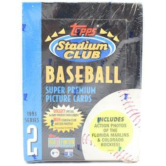 1993 Topps Stadium Club Series 2 Baseball Hobby Box