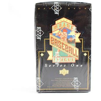 1993 Upper Deck Series 1 Baseball Hobby Box (Reed Buy)