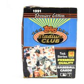 1991 Topps Stadium Club Series 1 Baseball Wax Box (Reed Buy)