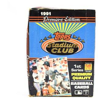 1991 Topps Stadium Club Series 1 Baseball Wax Box (Reed Buy)