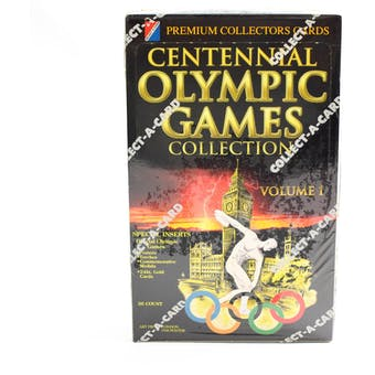 1996 Collect-A-Card Centennial Olympic Games Volume 1 Wax Box (Reed Buy)