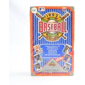 1992 Upper Deck Low # Baseball Hobby Box (Reed Buy)