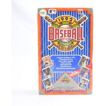 1992 Upper Deck Low # Baseball Hobby Box (Reed Buy)