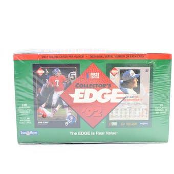 1992 Collector's Edge Football Wax Box (Reed Buy)