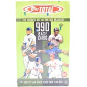 2002 Topps Total Baseball Hobby Box (Reed Buy)