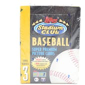 1993 Topps Stadium Club Series 3 Baseball Hobby Box (Reed Buy)