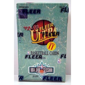 1992/93 Fleer Ultra Series 2 Basketball Hobby Box (Reed Buy)