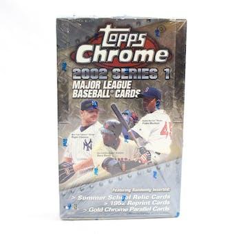 2002 Topps Chrome Series 1 Baseball Hobby Box (Reed Buy)