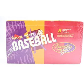 1994 Pinnacle Sportflics Baseball Hobby Box (Reed Buy)