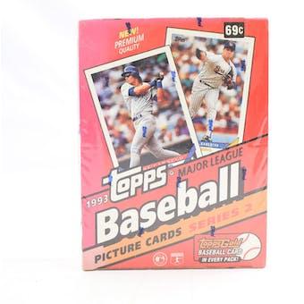 1993 Topps Series 2 Baseball Hobby Box (Reed Buy)