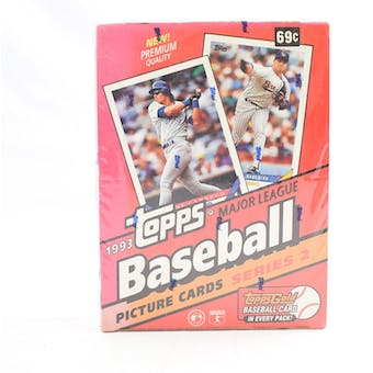 1993 Topps Series 2 Baseball Hobby Box (Reed Buy)