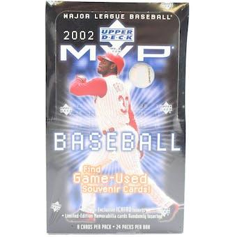 2002 Upper Deck MVP Baseball Hobby Box (Reed Buy)