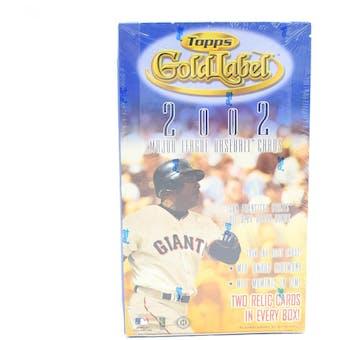 2002 Topps Gold Label Baseball Hobby Box (Reed Buy)