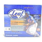 2002 Leaf Baseball 24 Pack Box (Retail) (Reed Buy)