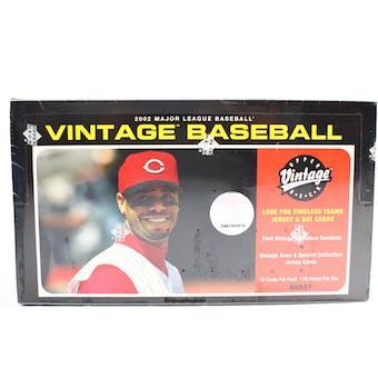 2002 Upper Deck Vintage Baseball Hobby Box (Reed Buy)