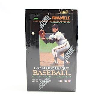 1992 Pinnacle Series 2 Baseball Hobby Box (Reed Buy)