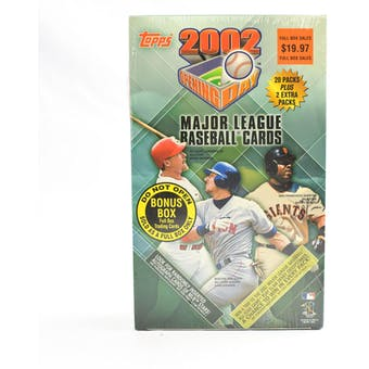 2002 Topps Opening Day Baseball Blaster Box (Reed Buy)