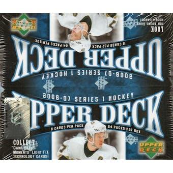 2006/07 Upper Deck Series 1 Hockey 24 Pack Box