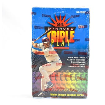 1994 Donruss Triple Play Baseball Hobby Box (Reed Buy)