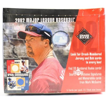 2002 Upper Deck Diamond Connection Baseball Hobby Box (Reed Buy)