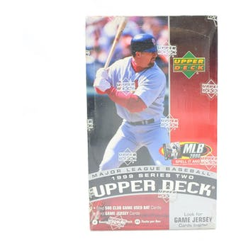 1999 Upper Deck Series 2 Baseball 20-Pack Box (Reed Buy)