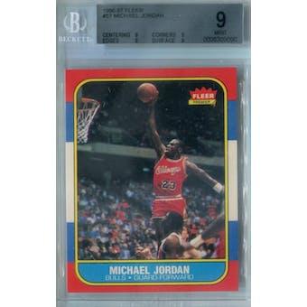 1986/87 Fleer Basketball #57 Michael Jordan RC BGS 9 (Mint) *9090 (Reed Buy)