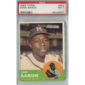 1963 Topps Baseball #390 Hank Aaron PSA 7 (NM) *5557 (Reed Buy)