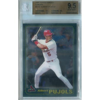 2001 Topps Traded Chrome Baseball #T247 Albert Pujols RC BGS 9.5 (Gem Mint) *8444 (Reed Buy)