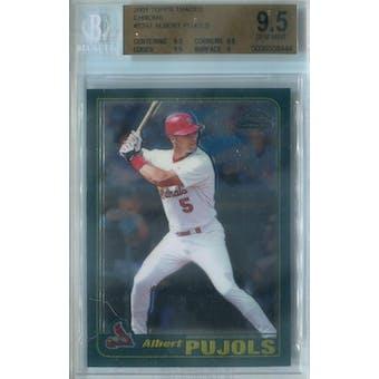 2001 Topps Traded Chrome Baseball #T247 Albert Pujols RC BGS 9.5 (Gem Mint) *8444 (Reed Buy)