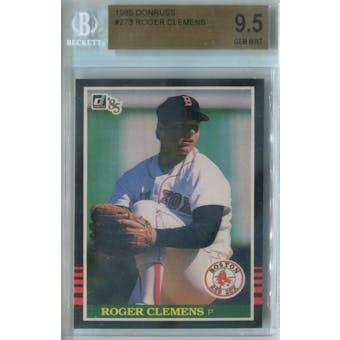 1985 Donruss Baseball #273 Roger Clemens RC BGS 9.5 (Gem Mint) *4352 (Reed Buy)