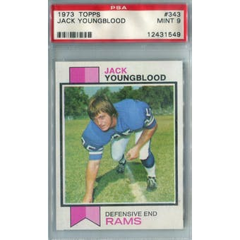 1973 Topps Football #343 Jack Youngblood RC PSA 9 (Mint) *1549 (Reed Buy)